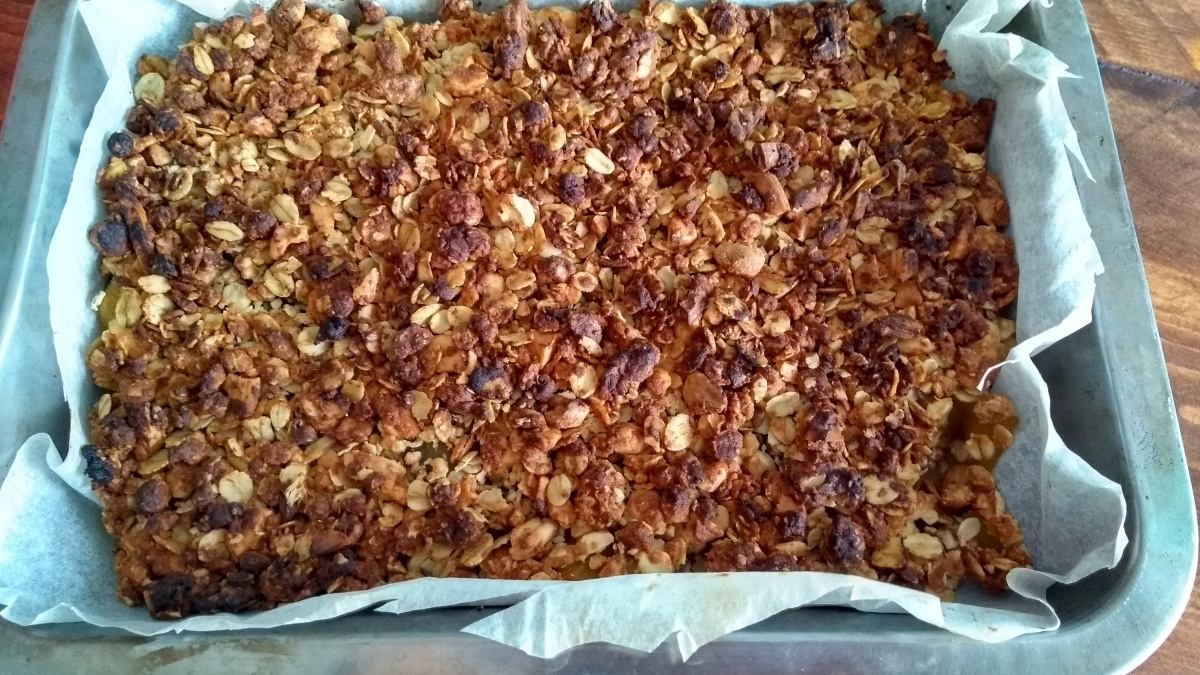 crumble - Crumble de manzana con helado de vainilla vegano